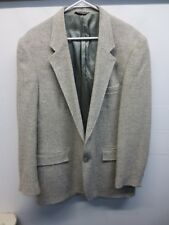 VTG 70's Levi Strauss & Co Men's Oatmeal 100% Wool Tweed Sport Coat Blazer 44L