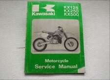 Factory Service Repair Manual KX250 KX500 Kawasaki KX125 OEM