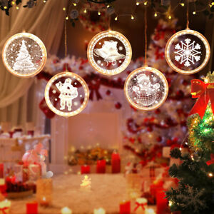 3D Hanging LED Bright String  Neon Shape Icicle Lights for Party,Christmas Decor