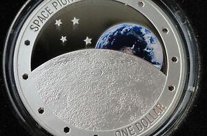Neuseeland 1 Oz Silber Space Pioneers - Weltraumpioniere Mondlandung 2019 PP