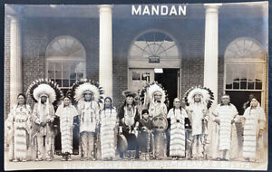 Mint USA real Picture Postcard Native Americana Sioux Indians Mandan