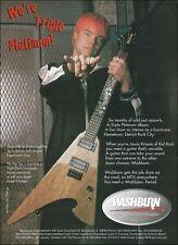 Jason Krause (Kid Rock) Washburn Pt Series Pop Top Korina guitar 8 x 11 ad print