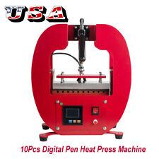 New Arrival digital sublimation 10 in 1 ballpoint pen logo printing machine 110V