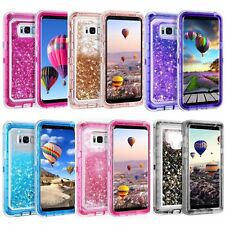 For Samsung Glitter Liquid Defender Case Cover Sparkle (Fits Otterbox Belt Clip)