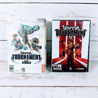 Unreal Tournament 2003 & Unreal Tournament 3 PC Software Video Game Lot Bundle