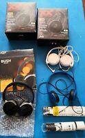 Headphones earphones Joblot x7 Sets, Bush Sony mdr, JVC xtreme, Skullcandy blue