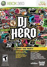 DJ HERO           pour X-BOX 360