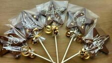 Handmade Belgian chocolate personalised star lolly lollipop with gold leaf