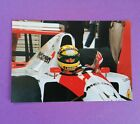 altes Foto Ayrton Senna McLaren Honda Formel 1 Testfahrten Hockenheimring 1991