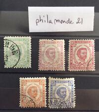 5 Timbres Monténégro neuf et oblitérés YT ME. Année 1889/1894
