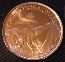 1 Oz Copper Round Giganotosaurus