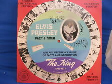 ELVIS PRESLEY Fact Finder Disc-Cover Book 1978 Spinning Cover Photo Album