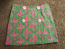 NEW LILLY PULITZER WRAP SKIRT size 6  Pink/Green GIRAFFE print ADORABLE NEW B7