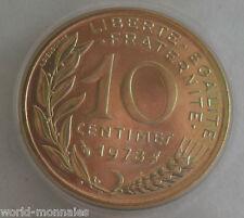 10 centimes marianne 1978 : FDC : pièce de monnaie française
