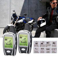 2-Way Motorcycle Remote Engine Start&Keyless Driving Anti-theft Alarm System Kit