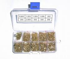 2500pcs PCB Brass Rivets Electronic Prototype Assortment Kit 10 Values