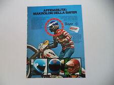 advertising Pubblicità 1980 BAYER e MOTO KTM