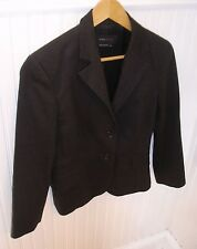 BCBG Maxazria  Woman's Dark Chocolate/Almost Black Jacket-Lined-Size XS-Preowned