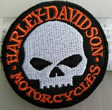 HARLEY DAVIDSON TOPPA PATCH ECUSSON TERSCHIO SKULL EMBROIDERED THERMOADERENTE