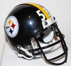 Jack Lambert Pittsburgh Steelers Riddell Mini Helmet Gray or Black Metal Mask