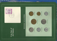 Coin Sets of All Nations Austria UNC 20,10,5,1 Schilling 50,10,5,2 Groschen 1982