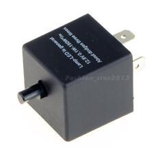 Adjustable Electronic LED Flasher BU Relay 3 Pin 12V Motorcycle Turn Singal US