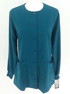 Grey's Anatomy 4 Pocket Warm Up Womens Classic Medical Scrub Lab Jacket Bahama