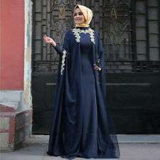 Muslim Evening Dresses Dubai Abaya Kaftan long sleeve Turkish Arabic Abiye Gowns