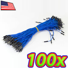 [100pc] Blue Male to Male M-M 9in 20cm Dupont Arduino Breadboard Jumper Wire