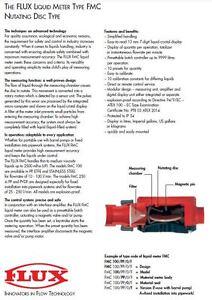 VISCOUS LIQUID FLOWMETER  DIGITAL READOUT bY FLUX Germany NEW RRP Au$3000