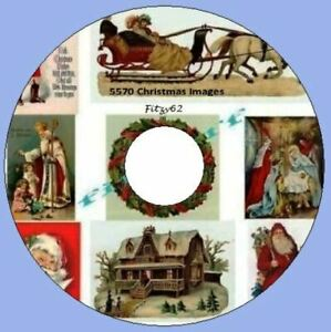 5570 Christmas Images on 1 Art & Craft Card Making DVD Rom