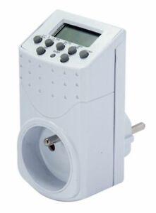 Programmateur Digital Blanc Prise Electrique minuteur minuterie programmable Pro