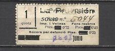 251A- SELLOS VIÑETAS FISCALES CON 4 SOBRACARGAS EN CATALAN.1941 SEGURO OBRERO.