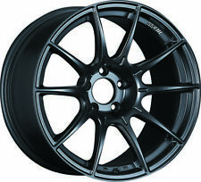 "18"" 18x9.5 ET+40 SSR GTX01 Flat Black Wheels Rims 5x4.5 Subaru WRX STI (4) Set"