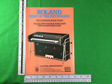 Vintage advert Roland mp700 Stage Piano and mpa100 amplifier