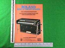 Publicité pour Roland MP700 piano scène et MPA100 Amplificateur