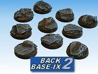 25mm Resin Bases (10) Round Slate, Small Warhammer 40k