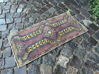VINTAGE HAND WOVEN TURKISH RUG MADE IN 1950,CLEAN AND READY TO USE| 1,4 x 2,8ft