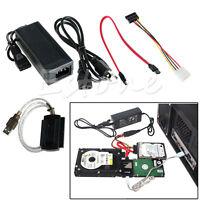 USB 2.0 to IDE SATA S-ATA 2.5 3.5 HD HDD Hard Drive Adapter Converter Cable