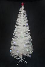 7 FT PRE-LIT MULTI COLOR LED & FIBER OPTIC CHRISTMAS TREE - BRIGHT WHITE STAND