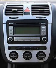 VW Golf Mk5 Jetta Bora Brushed aluminium effect climatronic dash + air vents  C