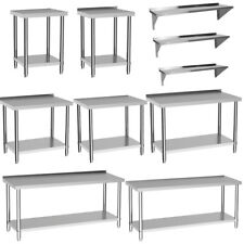 More details for commercial catering table stainless steel work bench kitchen food shelf -2ft/6ft