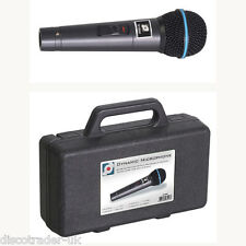 HANDHELD DYNAMIC MICROPHONE WITH LEAD & CARRY CASE FOR KARAOKE or DJ etc