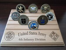 Military Challenge Coin Holder/Display 8x10, 4th Infantry Division