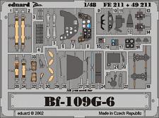 Eduard zoom FE211 1/48 messerschmitt bf 109G-6 hasegawa