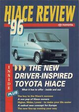 Toyota Hiace Review 1995-96 Irish Market Magazine Style Sales Brochure