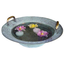Magic Dancing Water Brass Bowl Home Garden Decoration Decor Vintage /n1