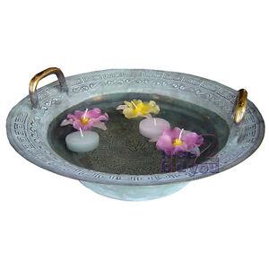 Magic Dancing Water Brass Bowl Home Garden Decoration Decor Vintage