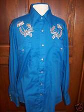 Champion Westerns vintage shirt Cowboy embroidery M L Vintage Free USA ship