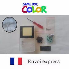 Coque GAME BOY color crystal transparent NEUF NEW +tournevis triwing -shell case